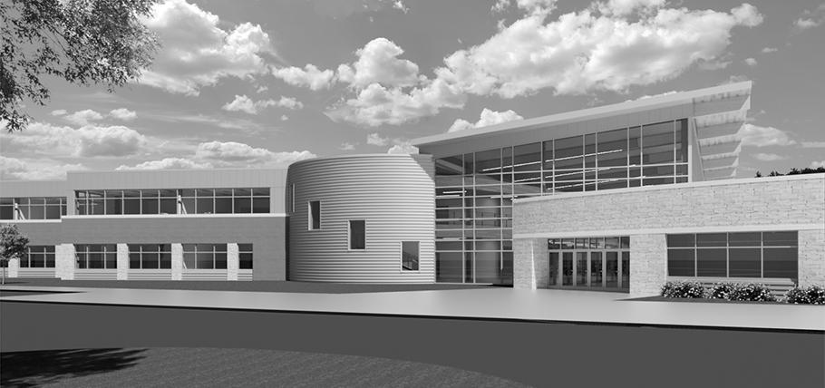 Wisconsin Dells High School Rendering