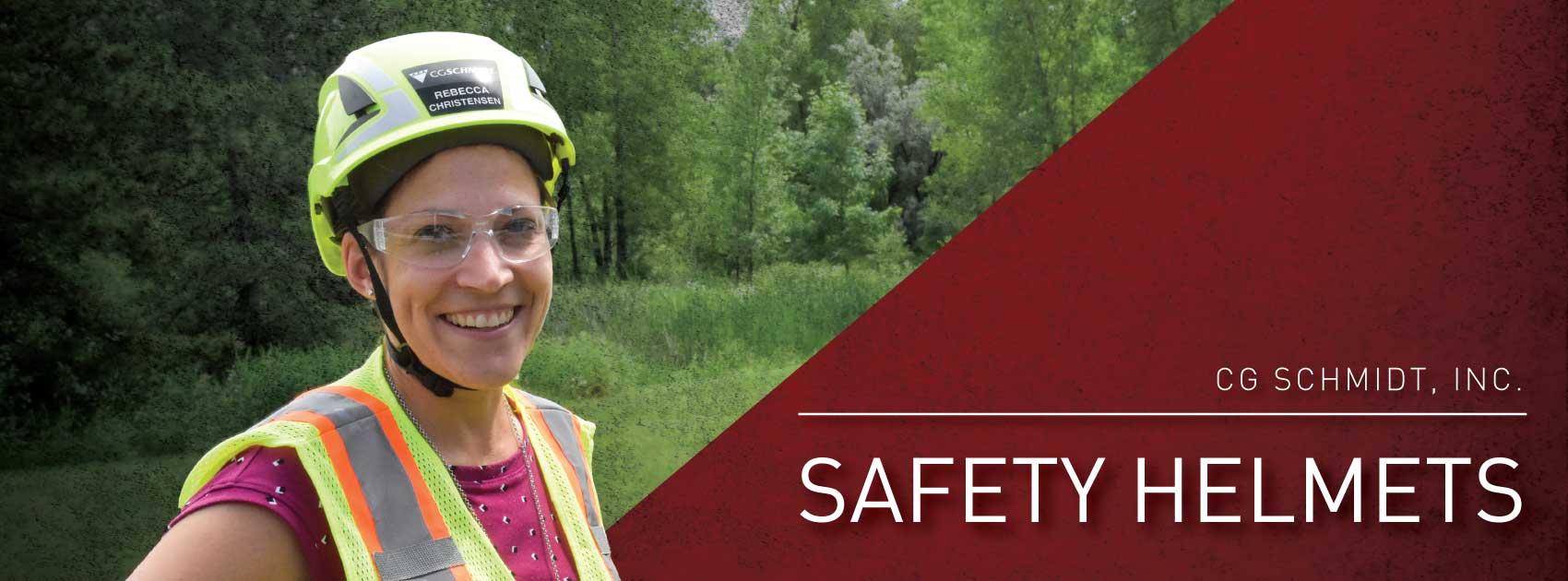 Rebecca Christensen wearing her 3M SecureFit Safety Helmet