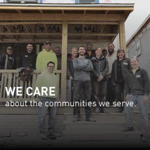 We care about the communities we serve.